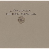 Announcing the Doble Steam Car, Doble Steam Motors, California