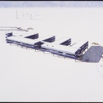 Artist's conception of the geographic South Pole Station soon to be built, ...