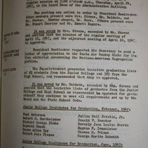 Santa Ana Board of Education Meeting Minutes 4/24/1947