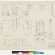 Conklin Residence, interior elevations and other details, San Francisco, 1922