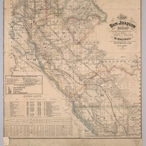 Map of the San Joaquin Valley [Calif.] : from latest & most ...