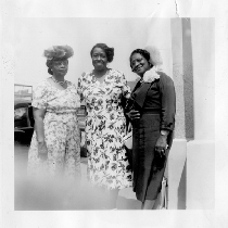 Florence Bryant (left) and two unidentified women