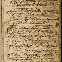 Account book from Unthank Hall, Derbyshire.