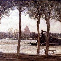 The Flood of 1870; The Tiber at Flood, Rome