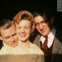 BH and Lucille Anderson and her brothers, ca 1953 (slide)