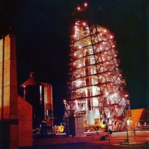 77 D Details: LDG 77D at Night; Frost-Flame from Burner Date: 01/10/1964