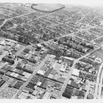 Aerial photograph of downtown Santa Rosa, California area, 1954