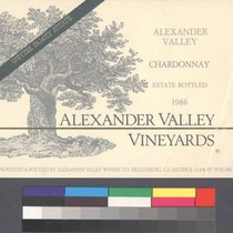 Alexander Valley chardonnay : estate bottled, 1986 : Wetzel Family Estate ; ...
