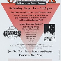 """ 1st Annual Lesbian & Gay Day at Candlestick: A Benefit for ..."