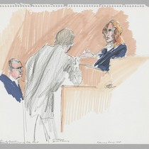 Dr. Harry Kozol, U.S. Attorney James L. Browning, Patty Hearst, Preliminary Hearing