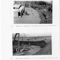 Dredge No. 1, Los Angeles Aqueduct in Owens Valley operation of jet, ...