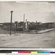 14th [Fourteenth] & Guerrero, N.W. [Temporary structures erected in ruined lot.] [Photo ...