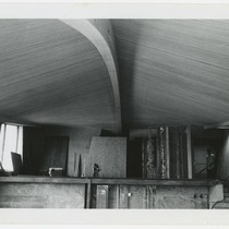 [Copper Spine House] interior view with detail of ceiling spine, Farrar, Phillip ...