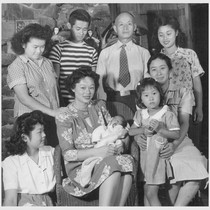 The Yamasaki family from Granada Relocation Center pose for their picture. From ...
