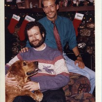 Randy Shilts and Barry Barbieri holiday card
