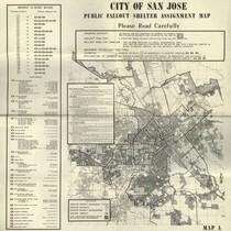 1964 City of San Jose Public Fallout Shelter map