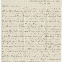 Letter from Alfred North to A. P. Marvin