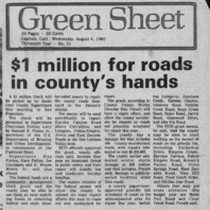 $1 million for roads in county's hands
