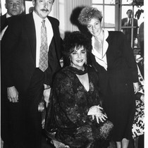 Elizabeth Taylor with Tim Wolfred and Carole Migden at Art Against AIDS ...