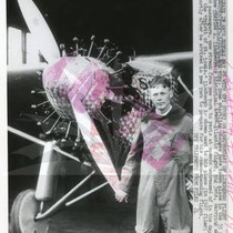 "Charles A. Lindbergh with ""The Spirit of St. Louis"""