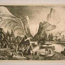 Yosemite Rancheria, 1878; from a painting by Miss Gordon Cummings; 1 print