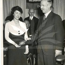 Anne Lindbergh Receiving National Geographic Society Award