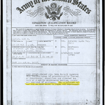 Army of the United States Separation Qualification Record