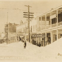 Winter scene on Main Street Truckee Calif.