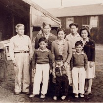 Yoshito Okamoto family at Tule Lake Relocation Center