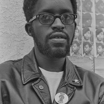 Captain Wendell Wade at National headquarters of the Black Panther Party, Oakland, ...