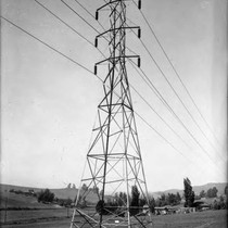 110 kv Transmission Line Towers from San Francisquito Canyon Power Plant No. ...