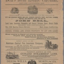 Bell's Real Estate Circular San Jose, California, 1882