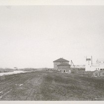 [Buildings at Middle River railway depot.]