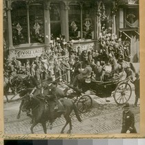 Pres. Roosevelt's visit to San Francisco Calif. in 1903. Passing up Geary ...
