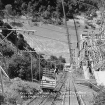 """Crossing the Canyon,"" At Las Plumas Power House near Oroville, Calif"