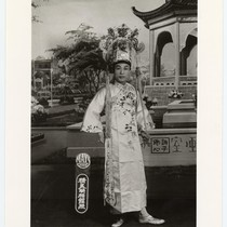 Actor as a scholar in non-ceremonial costume /