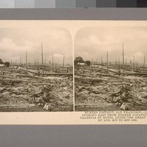 Burned District, San Francisco, Cal. Looking East from former location of Valentia ...