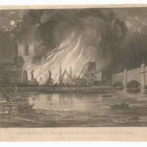"""The Houses of Lords & Commons on the Fire Oct.r 16th 1834"""
