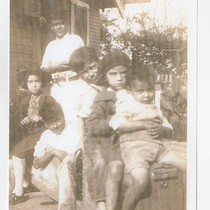Cabral siblings at their house, South Whittier, California