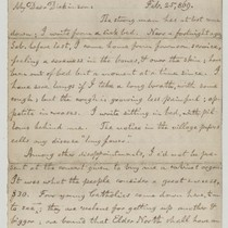 Letter from Alfred North to Mr. J. T. Dickinson