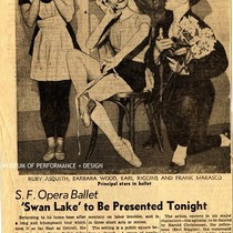 "Article: ""S.F. Opera Ballet 'Swan Lake' To be Presented Tonight"", San Francisco ..."