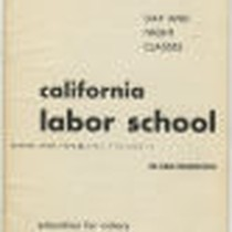 California Labor School 1945 spring term catalog
