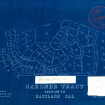 Amended Gardner Tract addition to Eastland CA [Hillside, Oakdale, W. Blithedale]