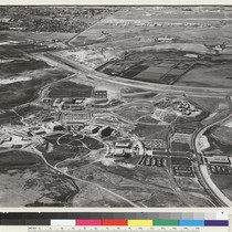 Irvine campus. Classes opened in fall 1965. Academic buildings partly ring campus ...