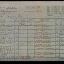 WPA block face card for household census (block 1200) of 79th, Denker, ...