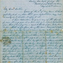 Letter from Augustin Hibbard to Brother [Ashley Hibbard], 1850 Aug. 20