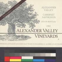 Alexander Valley cabernet sauvignon : estate bottled, 1983 : tenth anniversary release ...