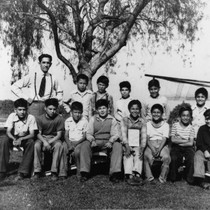 La Palma Elementary School Softball Team, Group Portrait, Anaheim [graphic]