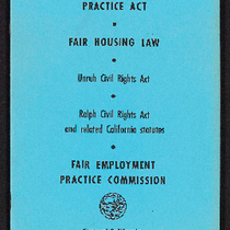 1978 Fair Employment Practice Act, Fair Housing Law, Unruh Civil Rights Act, ...