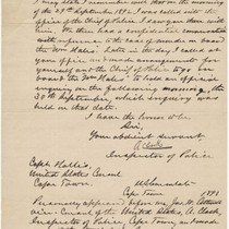 Affidavit by A. Clark, Cape Town Inspector of Police